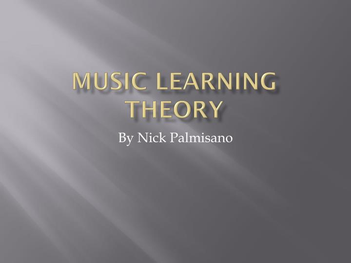 music learning theory n.