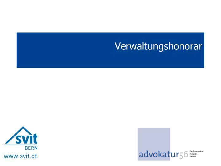 Verwaltungshonorar