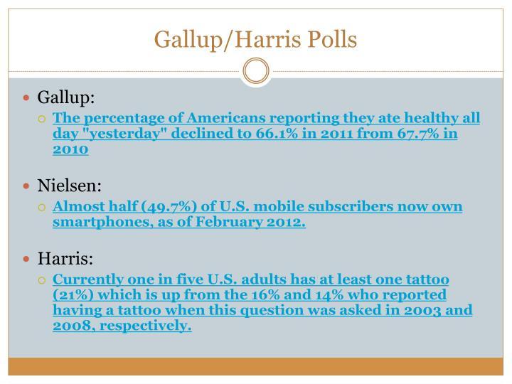 Gallup/Harris Polls