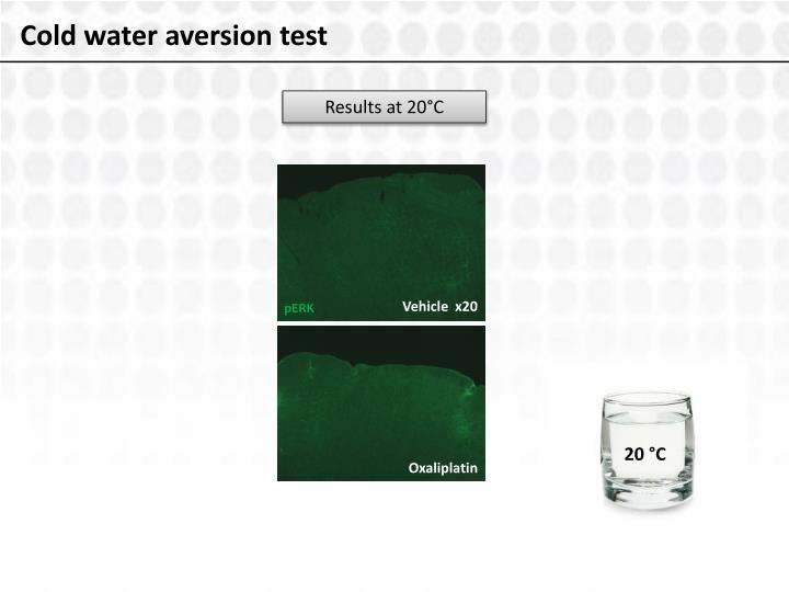 Cold water aversion test