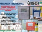 dotaci n de la sala de lectura de la primera infancia del municipio de guateque