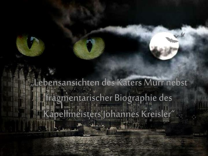 """Lebensansichten des Katers Murr nebst fragmentarischer Biographie des Kapellmeisters Johannes Kreisler"""