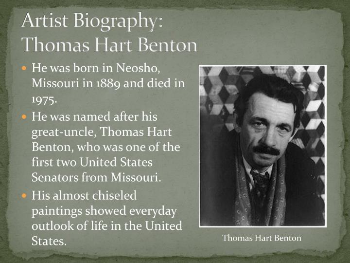 Artist biography thomas hart benton
