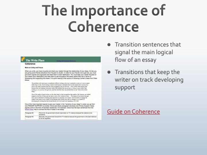 The Importance of Coherence