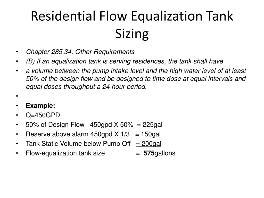 PPT - Flow Equalization Tanks PowerPoint Presentation - ID:2002803