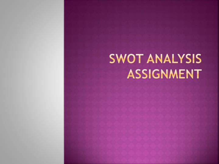 swot analysis assignment n.