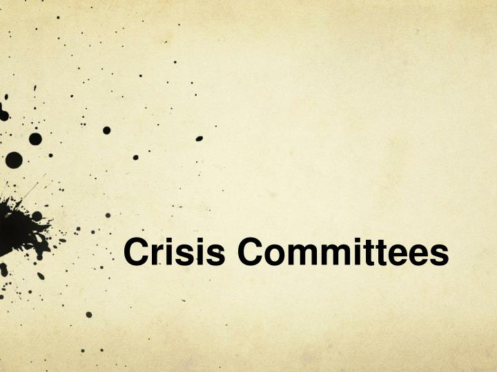 crisis committees