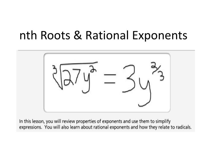 Nth roots rational exponents