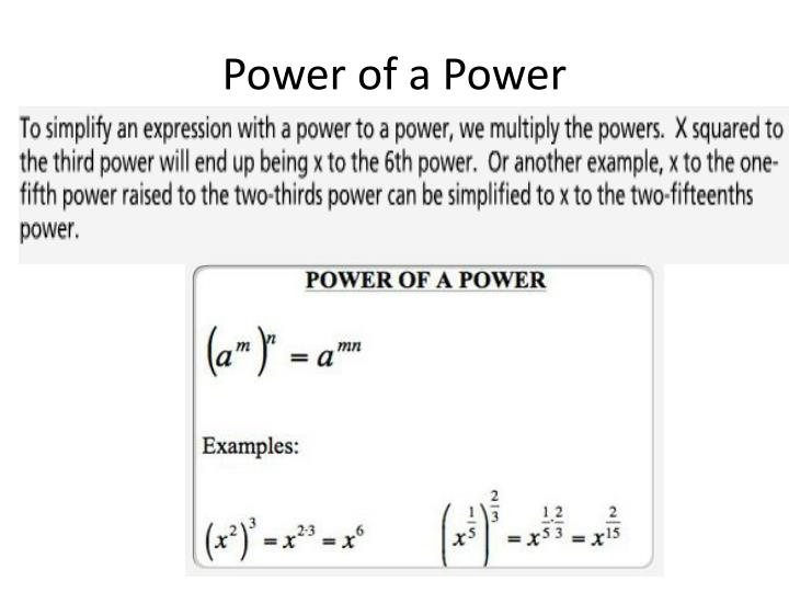 Power of a Power