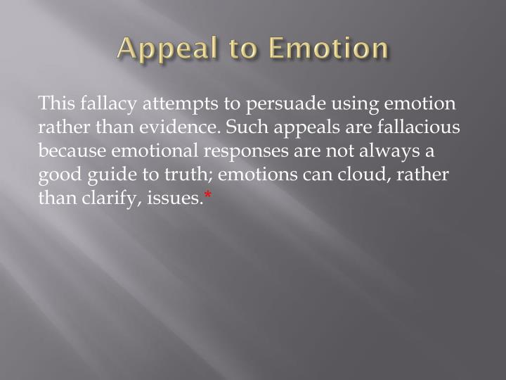 Appeal to Emotion