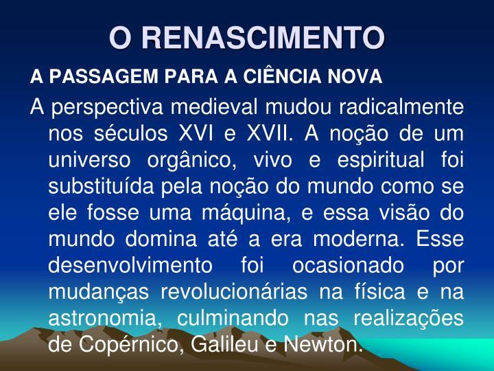 O renascimento2