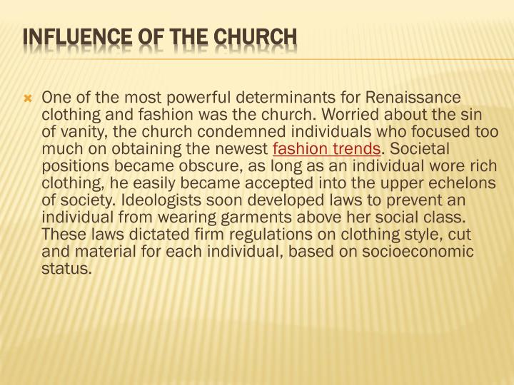 Influence of the church