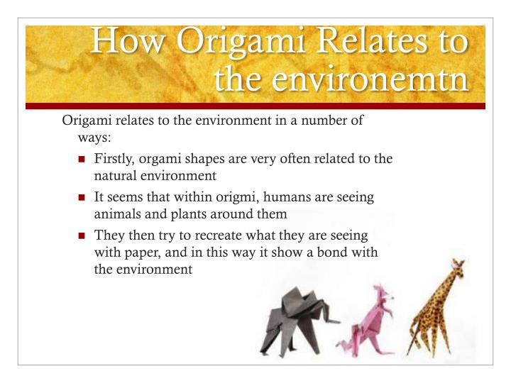 How Origami Relates to the