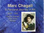 marc chagall a p ersonal j ourney in art