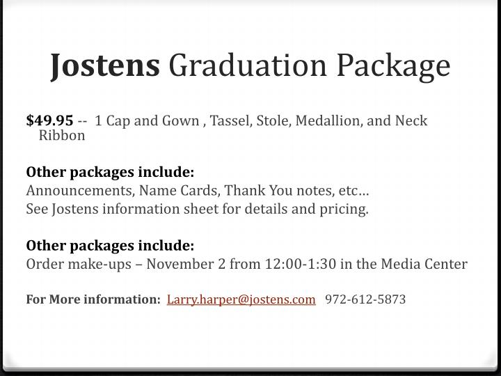Jostens graduation package