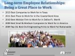 long term employee relationships being a great place to work