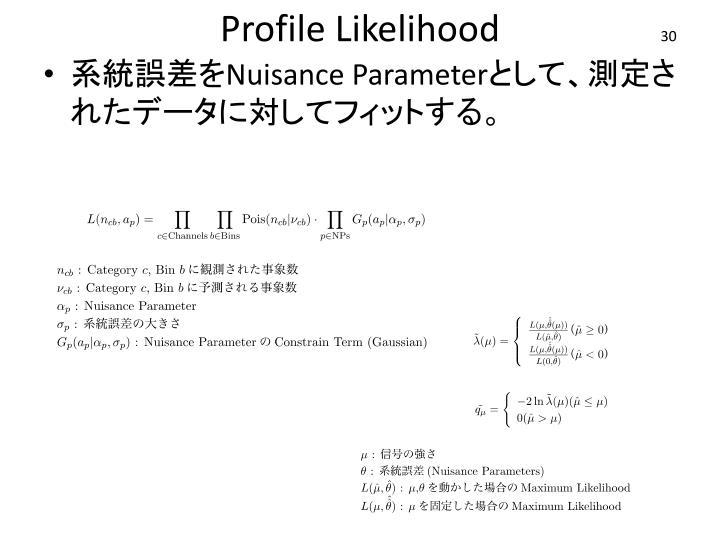 Profile Likelihood