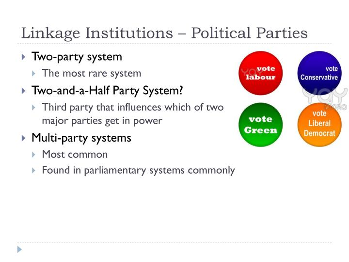 Linkage Institutions – Political Parties