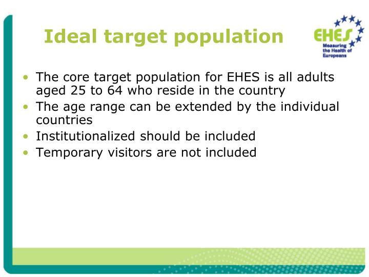 Ideal target population