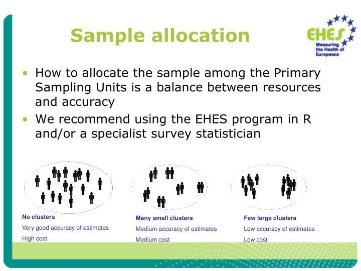 Sample allocation