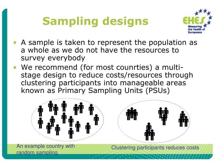 Sampling designs