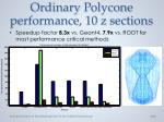 ordinary p olycone performance 10 z sections