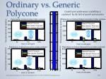 ordinary vs generic polycone