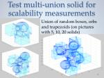 test multi union solid for scalability measurements