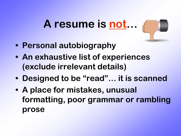 A resume is