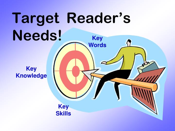 Target  Reader's Needs!