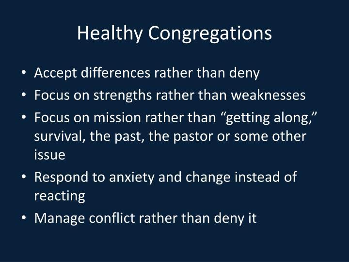 Healthy Congregations