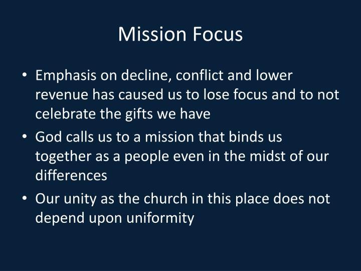 Mission Focus