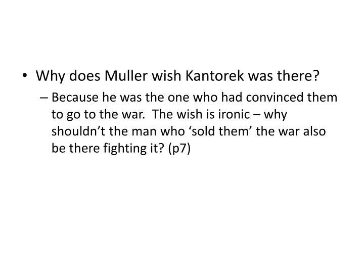 Why does Muller wish