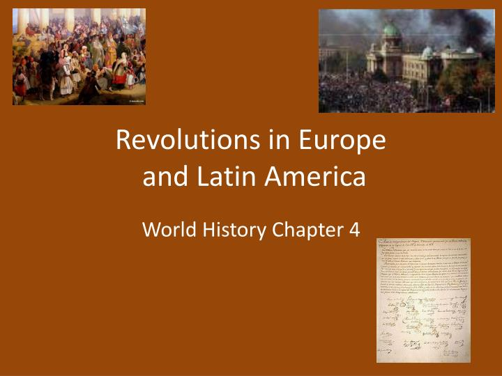 revolutions in europe and latin america n.