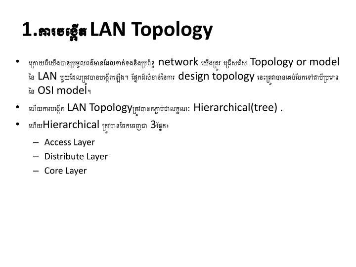 1 lan topology