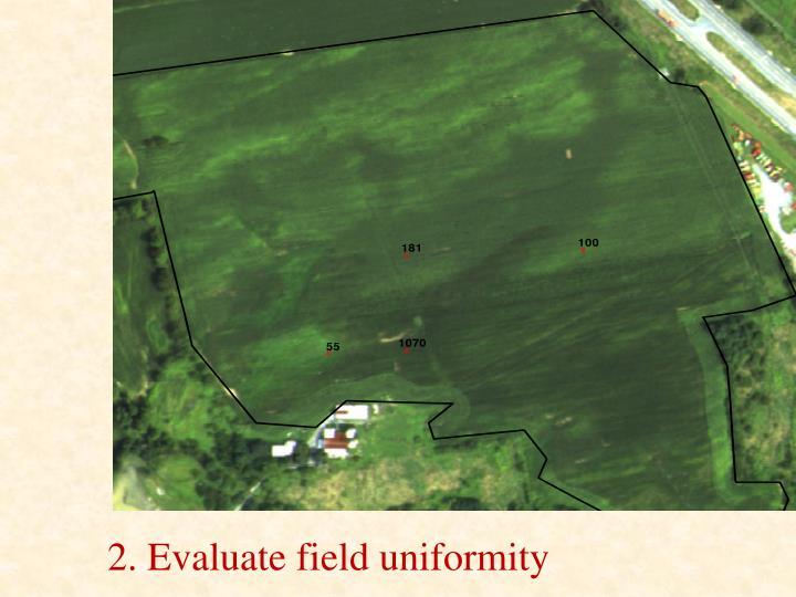 2. Evaluate field uniformity