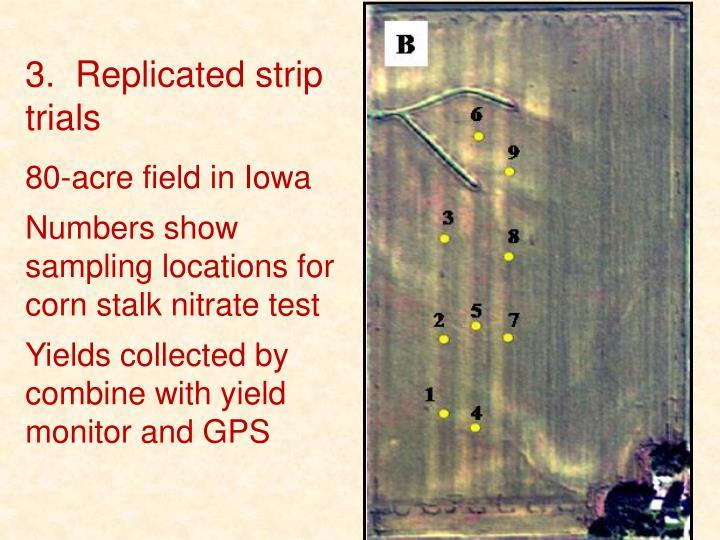 3.  Replicated strip trials