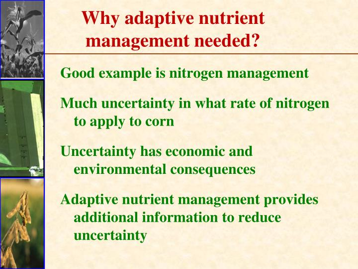 Why adaptive nutrient management needed?