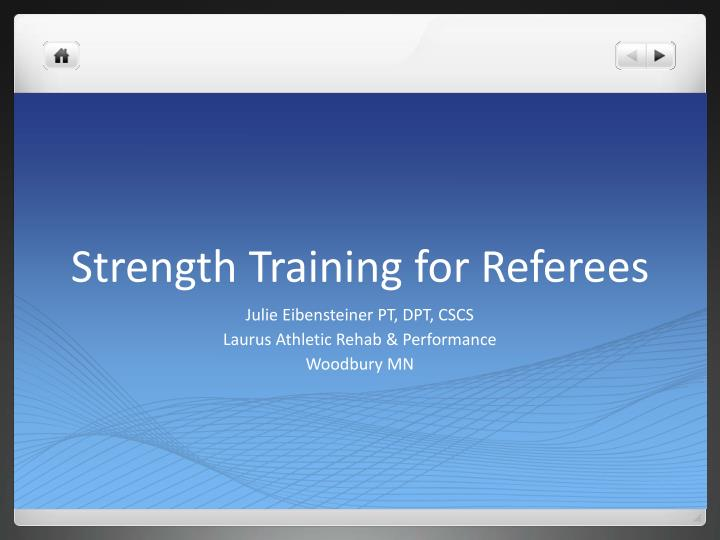 strength training for referees n.