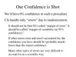 our confidence is shot