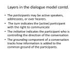 layers in the dialogue model contd