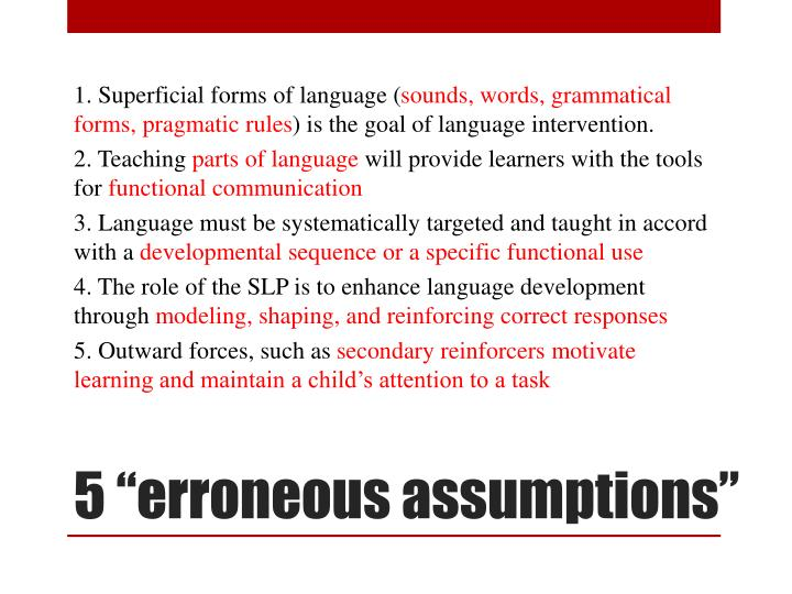 1. Superficial forms of language (
