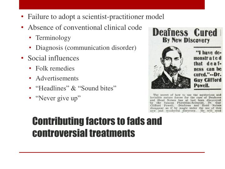Failure to adopt a scientist-practitioner model