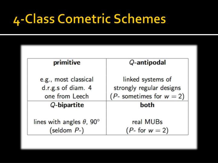 4-Class Cometric Schemes