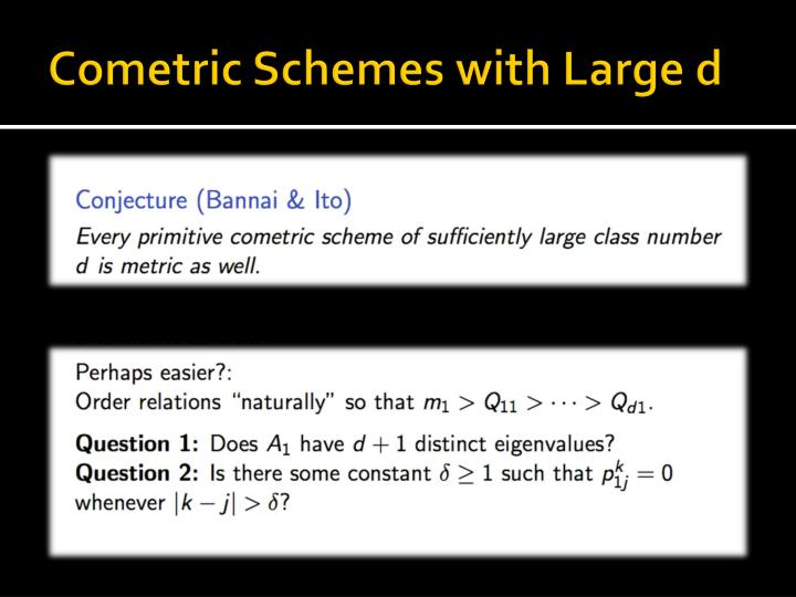 Cometric Schemes with Large