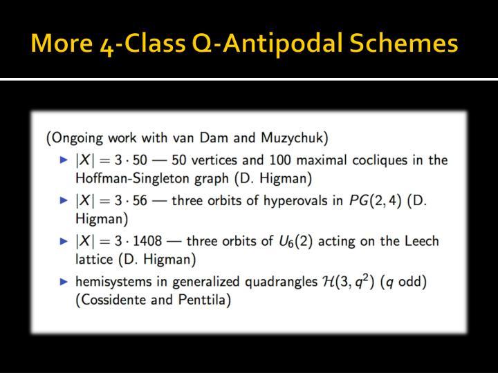 More 4-Class Q-Antipodal Schemes