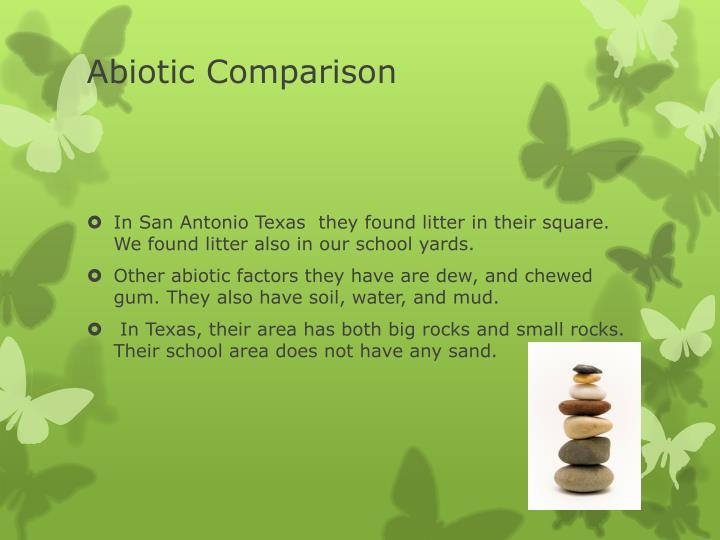 Abiotic Comparison