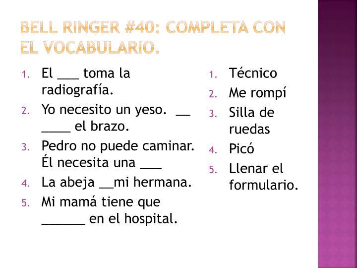 Bell ringer #40: