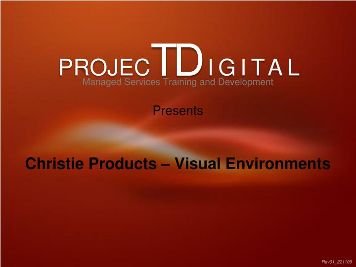 christie products visual environments n.