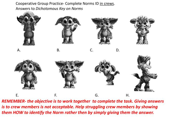 Cooperative Group Practice- Complete Norms ID